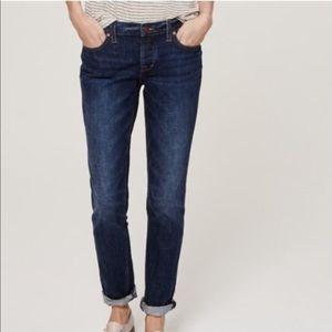 LOFT dark wash boyfriend jeans Sz 10